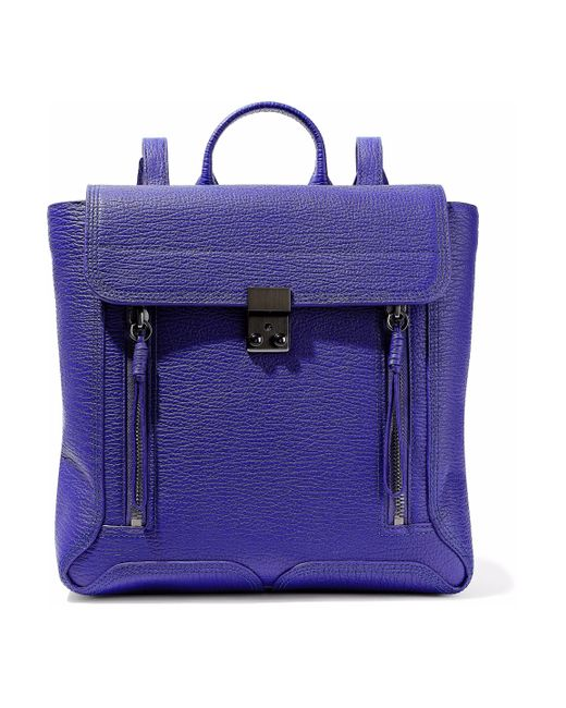 3.1 Phillip Lim - Purple Pashli Textured-leather Backpack - Lyst