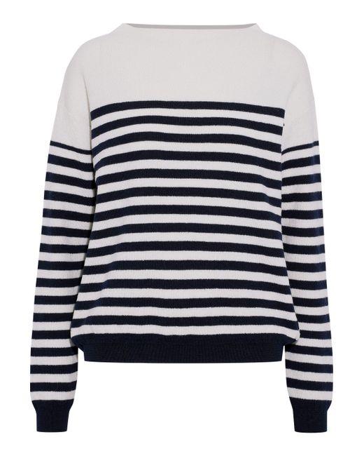 MiH Jeans - White Margot Striped Merino Wool Sweater - Lyst