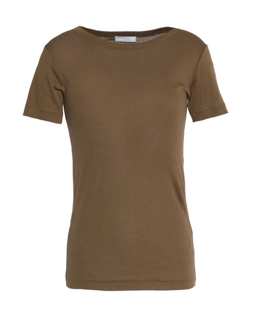 Vince - Brown Pima Cotton Jersey Top - Lyst