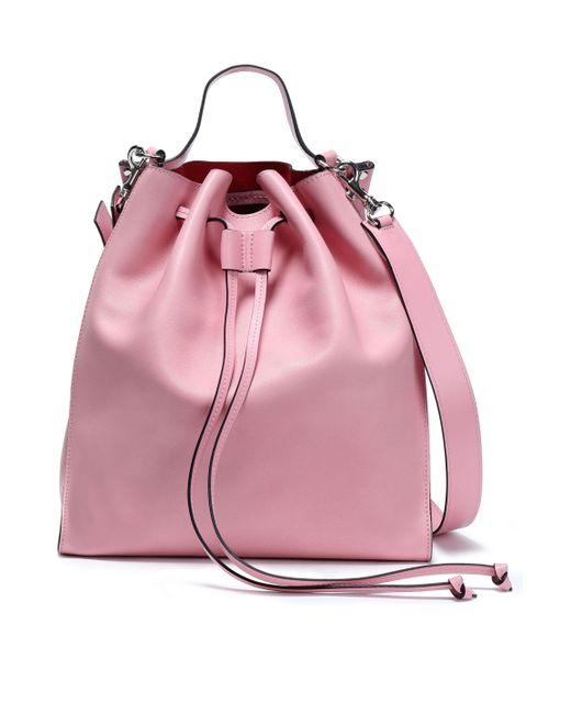 7683c514578 J.W. Anderson - Pink Woman Two-tone Leather Bucket Bag Bubblegum - Lyst ...