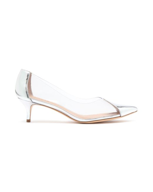 Schutz Metallic Pvc And Mirrored-leather Pumps Silver