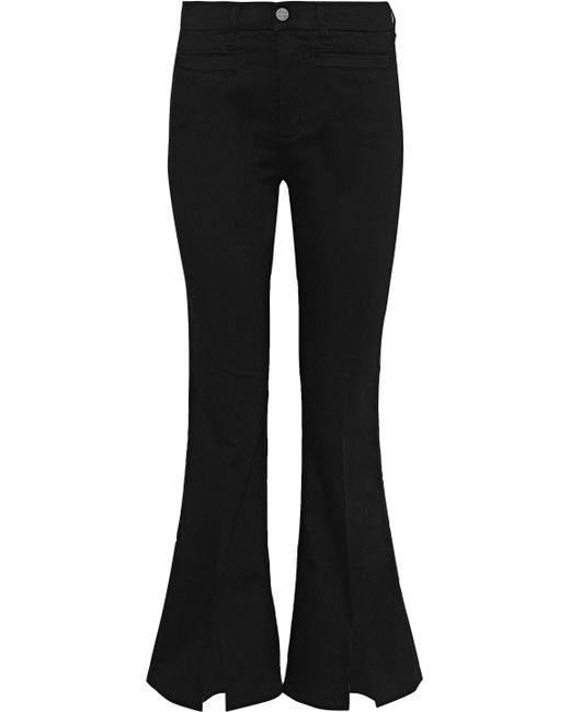 MiH Jeans - Black Marrakesh Sneaker Split Mid-rise Kick-flare Jeans - Lyst