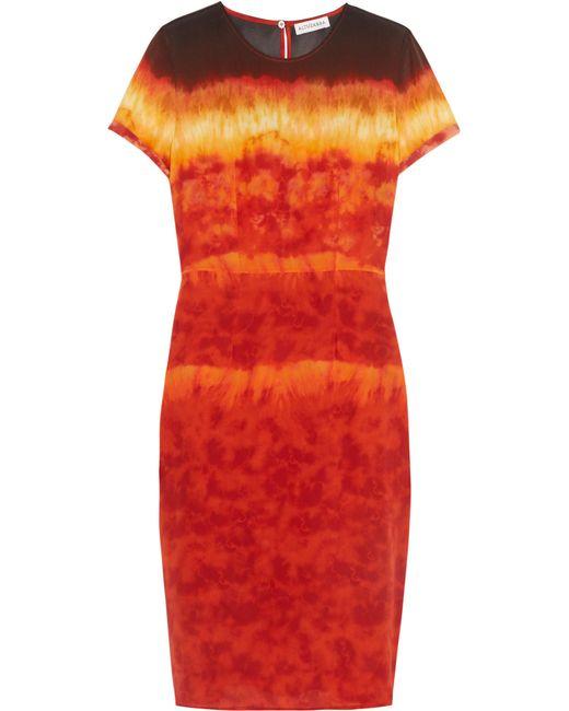 Altuzarra | Red Glaze Tie-dyed Silk-satin Dress | Lyst