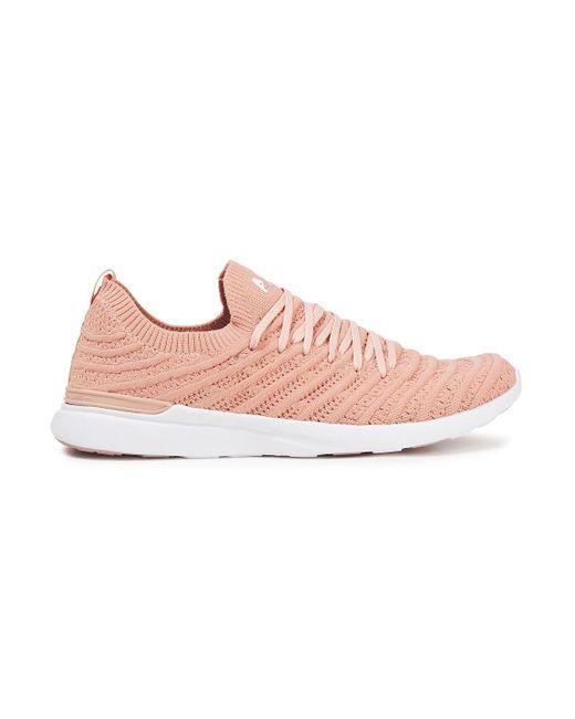 APL Shoes Pink Techloom Wave 3d Mesh Sneakers Antique Rose