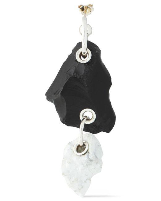 Proenza Schouler - Black Silver-tone Stone Earring - Lyst