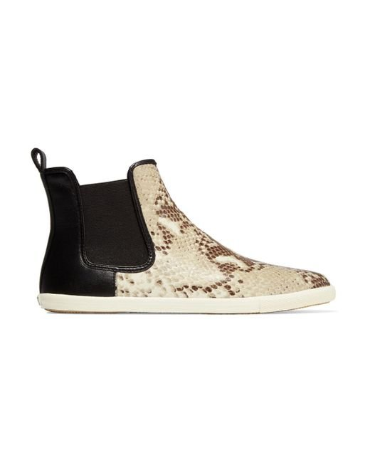 Marc By Marc Jacobs | Natural Gracie Snake-effect Leather High Top Sneakers | Lyst