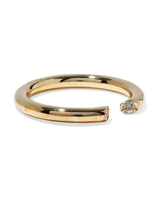 Elizabeth and James - Metallic Gold-tone Crystal Ring - Lyst
