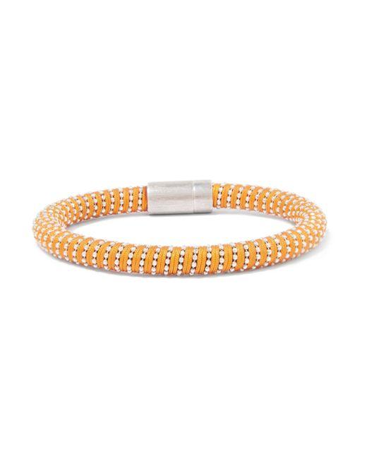 Carolina Bucci - Orange Silver-tone Woven Bracelet - Lyst