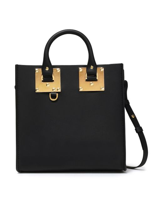 Sophie Hulme Albion Square Matte-leather Shoulder Bag Black