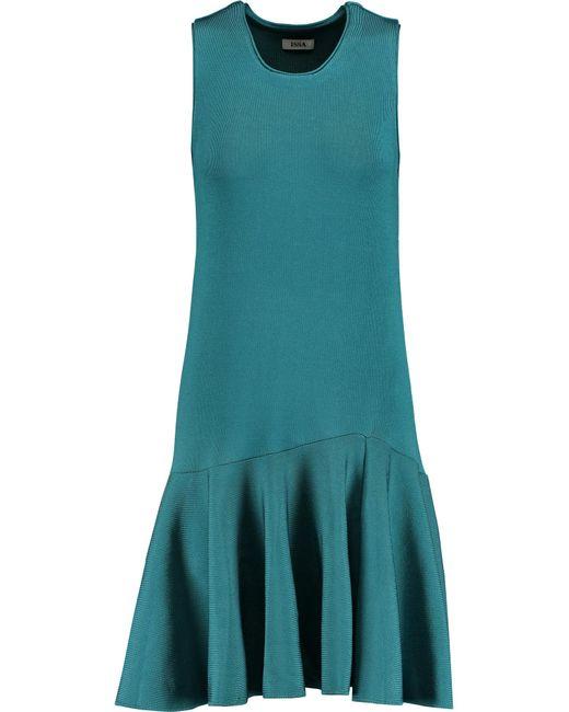 Issa | Blue Viola Fluted Stretch-jersey Dress | Lyst
