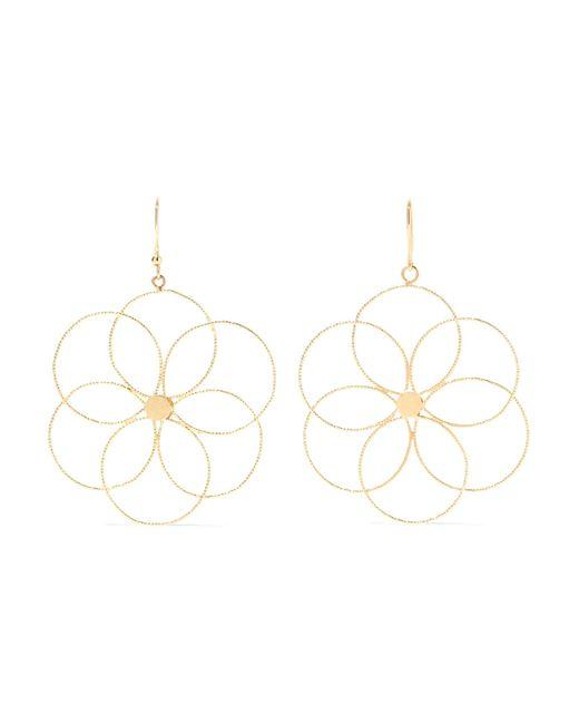 Carolina Bucci   Metallic Camelia 18-karat Gold Earrings   Lyst