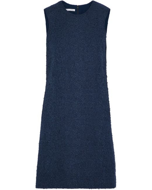 Oscar de la Renta - Blue Cotton-blend Tweed Mini Dress - Lyst