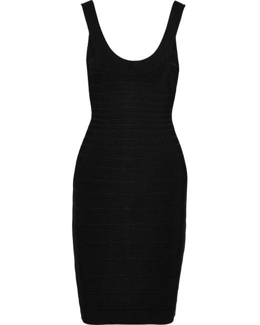 2c4aeb9aa3a Lyst - Hervé Léger Hervé Léger Woman Sydney Bandage Dress Black in Black
