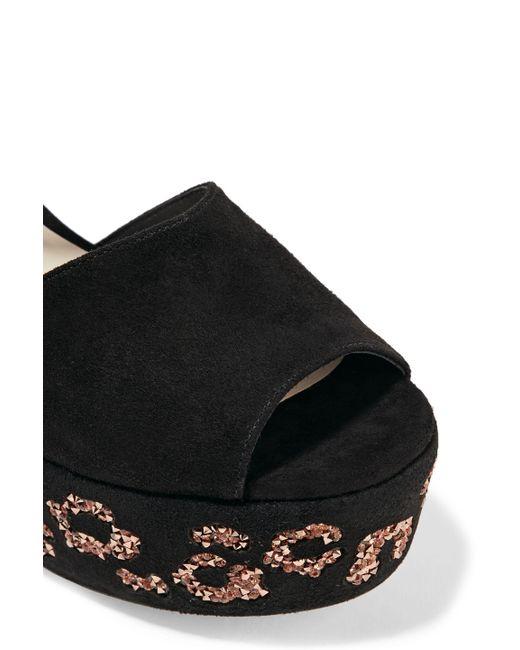21d245b4a194 Sophia Webster. Women s Woman Suki Crystal-embellished Suede Platform  Sandals Black