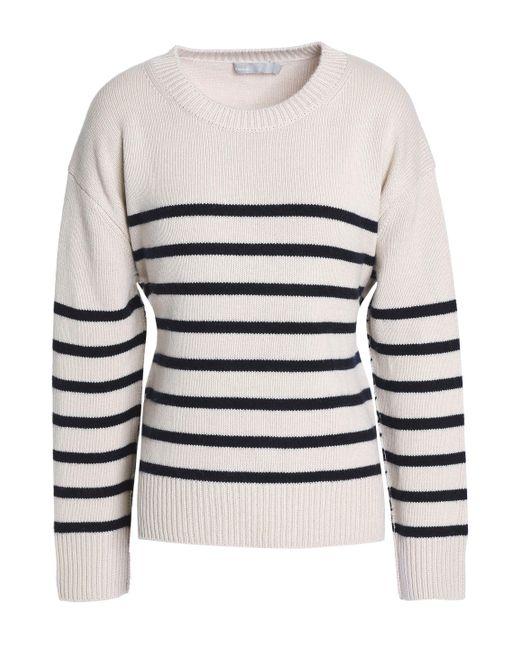 Vince - Multicolor Tie-back Striped Cashmere Sweater - Lyst