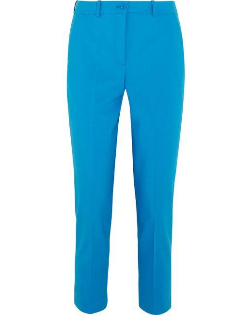 Michael Kors - Blue Samantha Stretch-wool Slim-leg Pants - Lyst