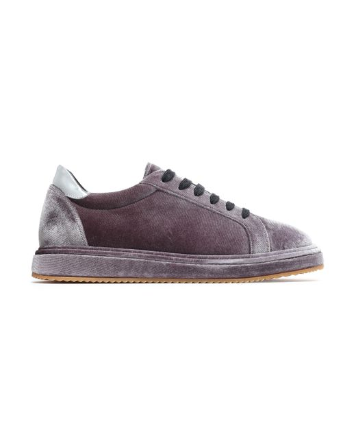 Brunello Cucinelli - Multicolor Patent Leather-trimmed Velvet Sneakers - Lyst