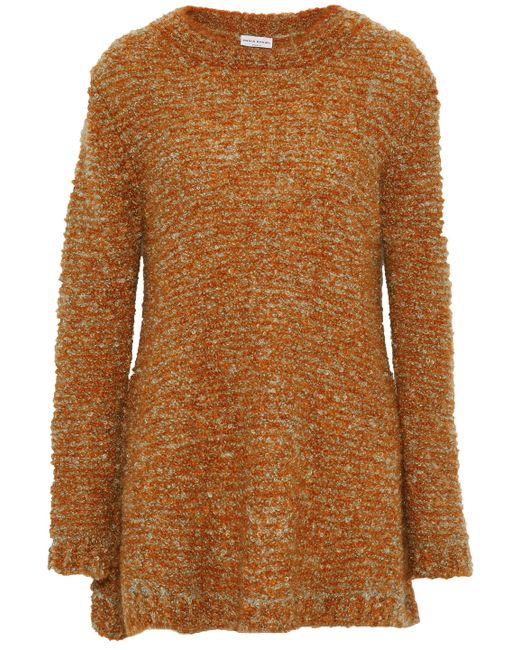 Sonia Rykiel - Orange Mélange Mohair-blend Bouclé Sweater - Lyst