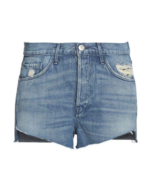 3x1 | Blue Faded Denim Shorts Mid Denim | Lyst