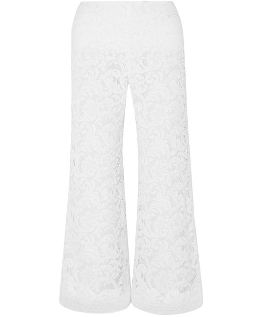 Adam Lippes White Cotton-blend Corded Lace Culottes