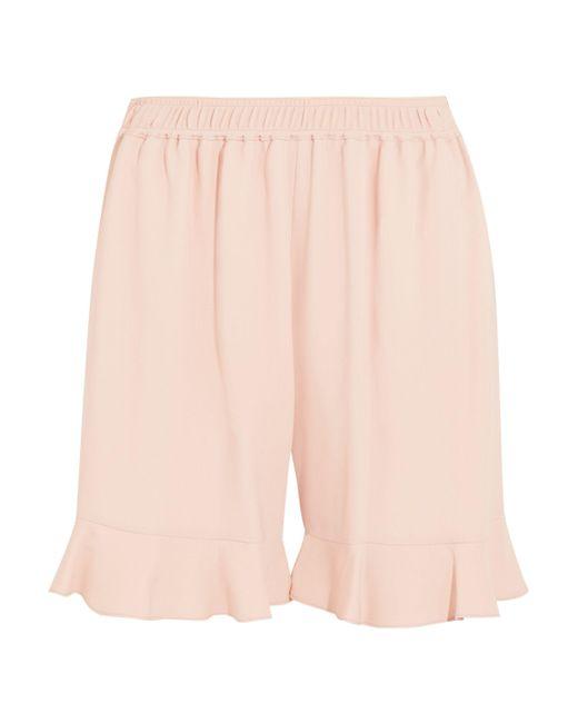 Stella McCartney | Multicolor Contessa Ruffled Stretch-crepe Shorts | Lyst