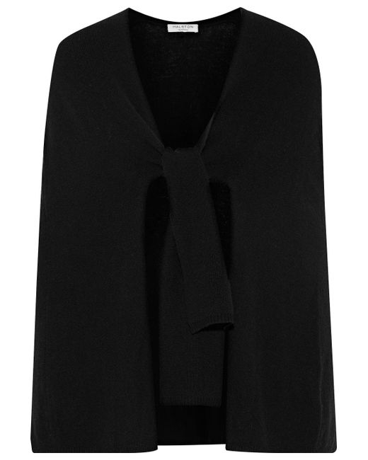 Halston Heritage - Black Wool And Cashmere-blend Cardigan - Lyst