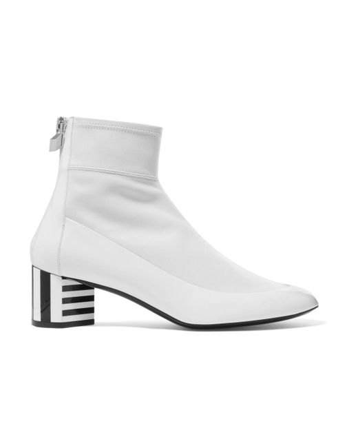 Pierre Hardy - White Illusion Paneled Leather Ankle Boots - Lyst