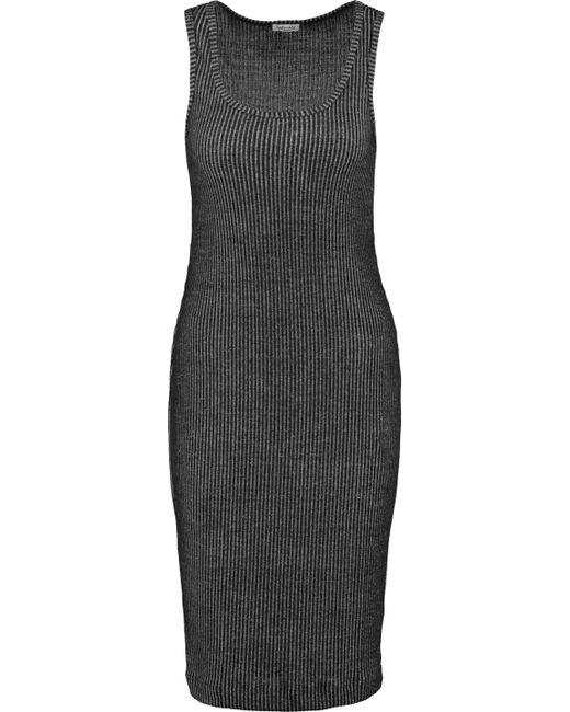 Splendid | Black Ribbed Knit Tank Dress | Lyst