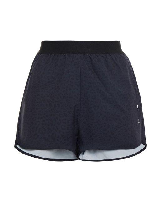 The Upside Black Liv Leopard-print Stretch Shorts