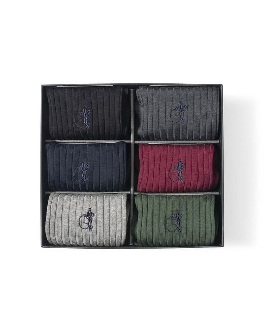 London Sock Company Multicolor The Traditional Sock Gift Box Of 6 for men