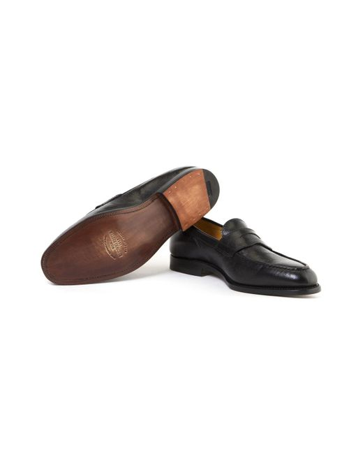 7b437fde784 ... Ludwig Reiter - Black Camel Leather Penny Loafers for Men - Lyst ...