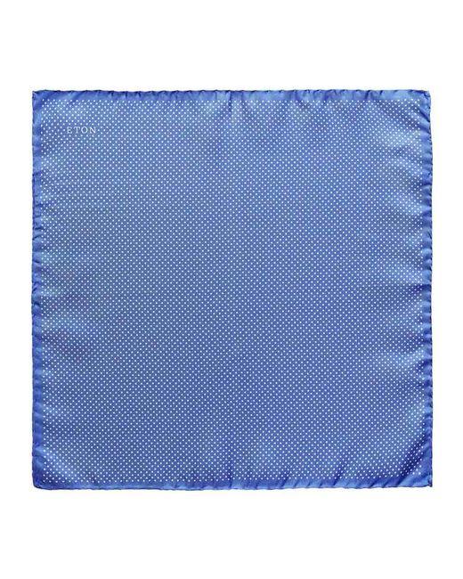 Eton of Sweden Light Blue Silk Fine Polka Dot Pocket Square for men