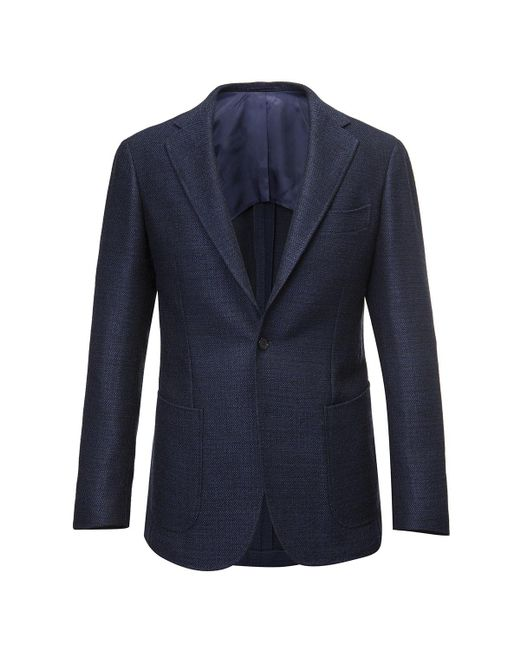 Ring Jacket - Blue Birdseye Wool Balloon Jacket for Men - Lyst