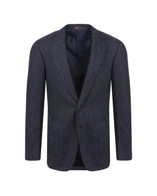 Cifonelli Blue Virgin Wool-silk Mix Jacket for men