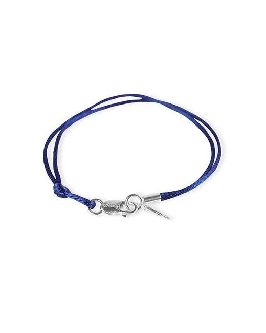 Rubinacci | Blue And Silver Pendant Silk Bracelet | Lyst