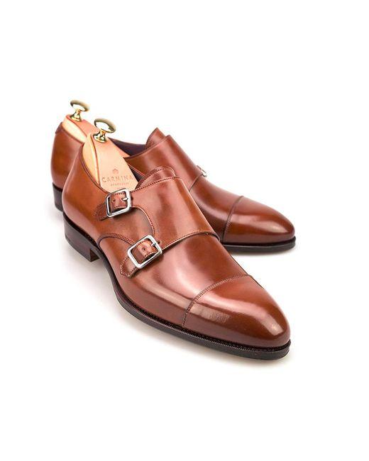 Carmina - Brown Bourbon Cordovan Leather Double Monk Straps for Men - Lyst