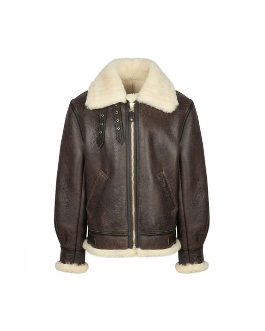 b261ed00a Men's Brown B3 Shearling Jacket