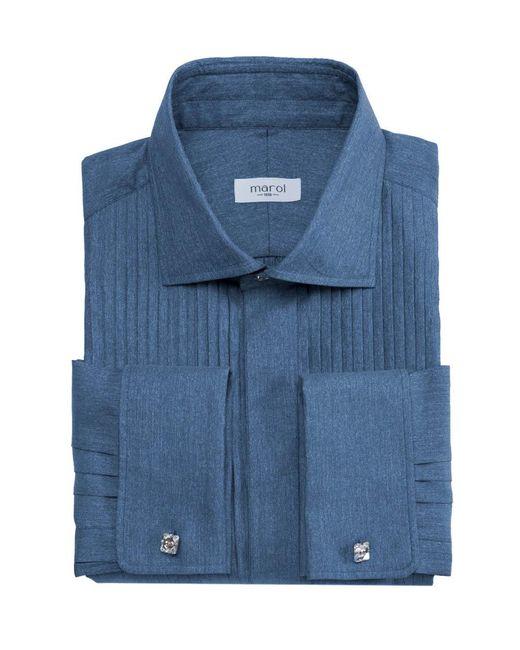 Marol - Blue Astaire Denim Tuxedo Shirt for Men - Lyst