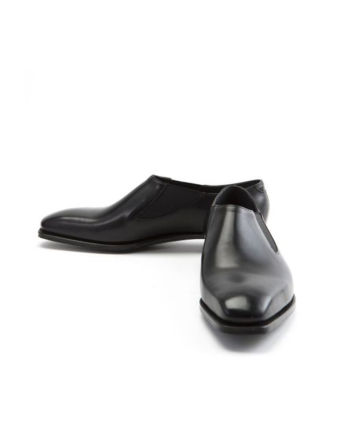 new arrival 5af8a a7fd8 george-cleverley-black-Black-Bulow-Elastic-Sided-Leather-Shoes.jpeg