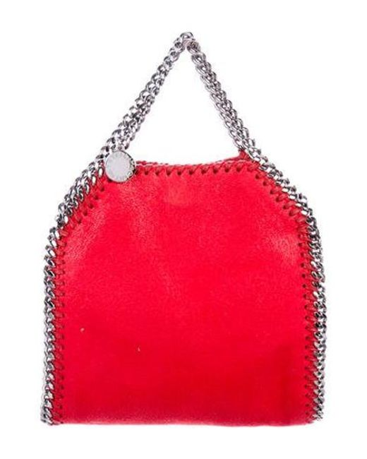 Stella McCartney - Red Shaggy Deer Mini Falabellatote - Lyst ... 802ee882da