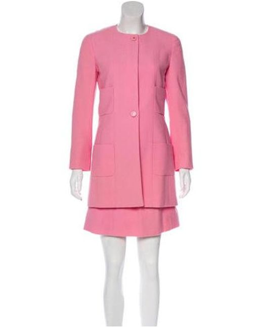 Chanel - Pink Vintage Wool Skirt Suit - Lyst