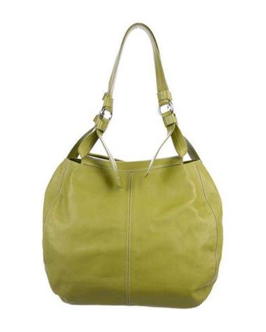 ac3e292aa8ca Lyst - Tod S Leather Hobo Bag Green in Metallic