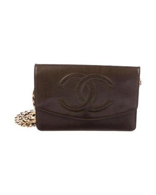 d33abfc46c43 Chanel - Metallic Vintage Timeless Wallet On Chain Gold - Lyst ...