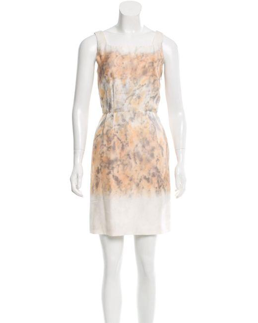 Proenza Schouler | Gray Sleeveless Watercolor Dress Grey | Lyst