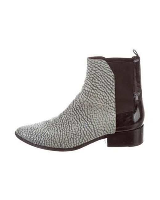 50473d7a8015 3.1 Phillip Lim - Blue Leather Ankle Boots - Lyst ...