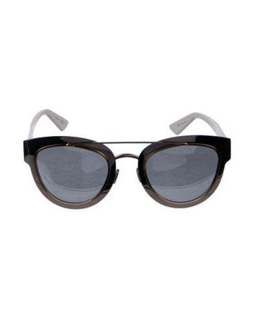 d222bfafc8 Dior - Metallic Mirrored Cat-eye Sunglasses Silver - Lyst ...