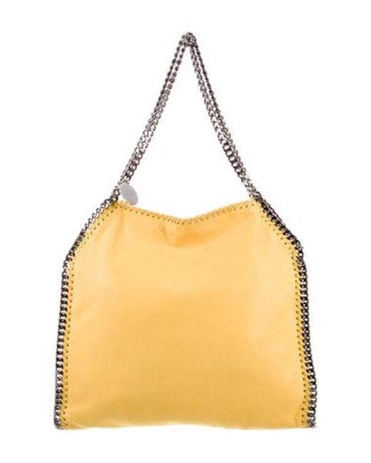 c30b71690c3 Stella McCartney - Yellow Vegan Leather Shaggy Deer Falabella Tote - Lyst  ...