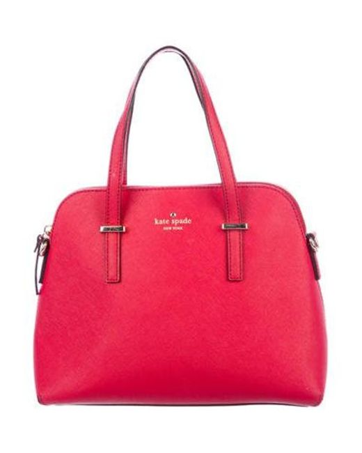 Kate Spade - Metallic Brighton Park Small Felix Bag Red - Lyst ... de1e892523ff3