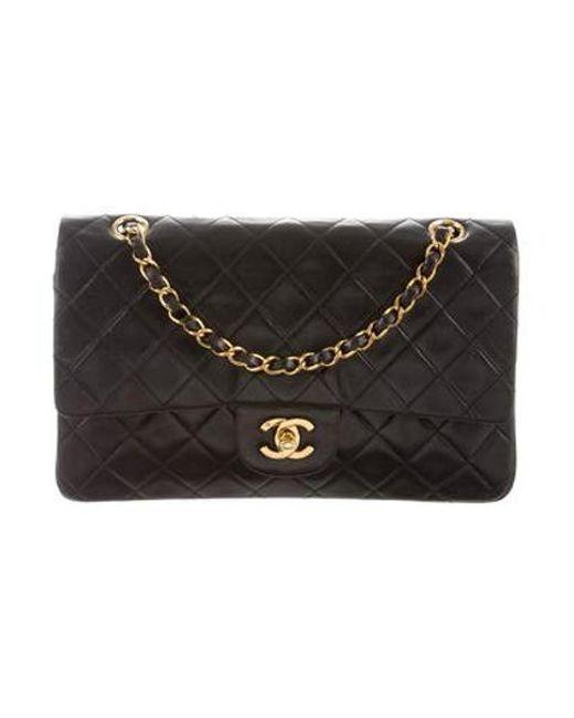8ec1b5694714 Chanel - Metallic Vintage Classic Medium Double Flap Bag Black - Lyst ...
