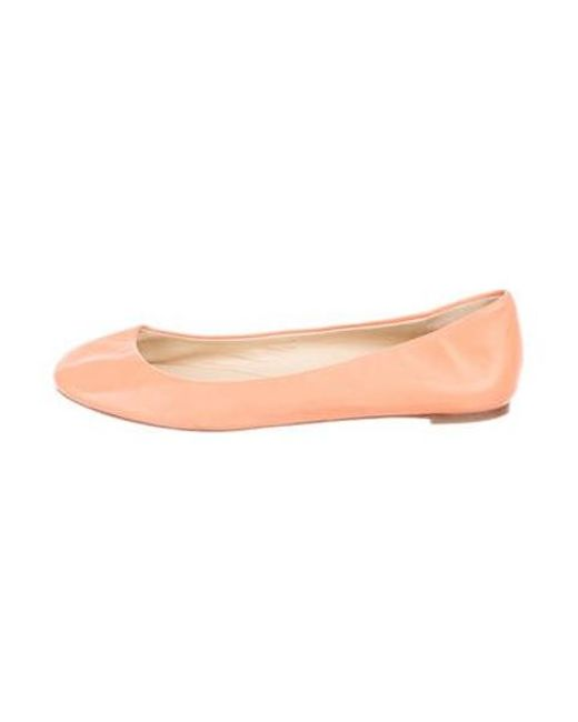 Vera Wang - Leather Round-toe Flats Orange - Lyst